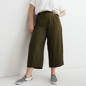 NWT Madewell Drapey Pleated Wide-Leg Pants Kale